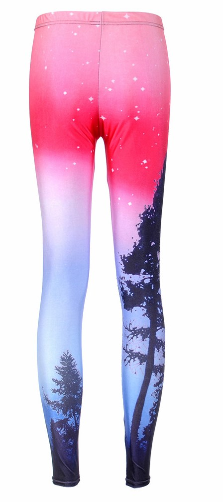 Neon Purple Galaxy Leggings