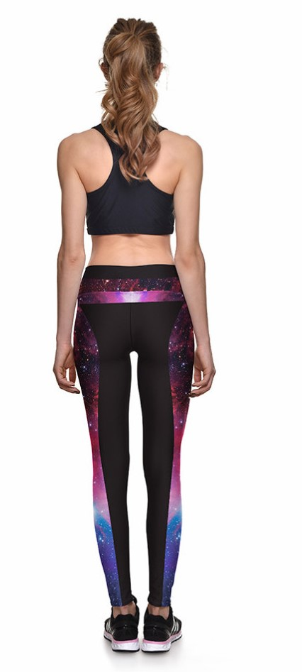 Space Galaxy Star Digital Print Leggings
