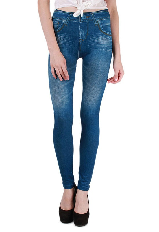 skinny-denim leggings